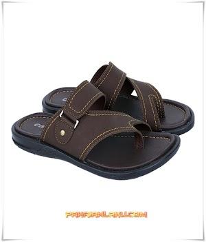 Sandal Casual Pria Elegan Warna Coklat