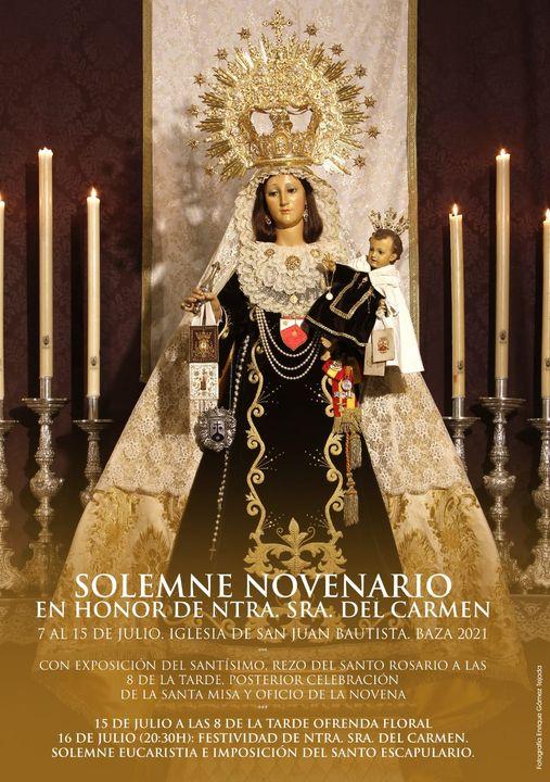 Cartel anunciador de Nuestra Señora del Carmen de Baza 2021