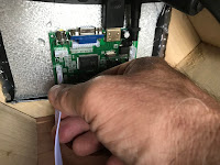 Plugging in control cable