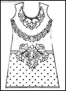 (Fabulous) hater kajer dress design pictures, jamar noksha design,জামার ডিজাইন আঁকা