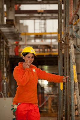 Mujeres, obreras, trabajo, construcción