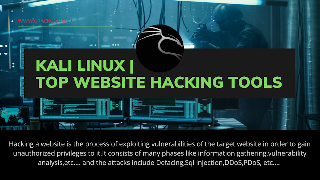 Kali Linux | Top Website Hacking Tools