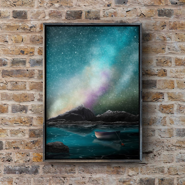 Adrift Under a Galaxy by Mark Taylor, landscape art, Fine art america, pixels art, Mark Taylor artist,