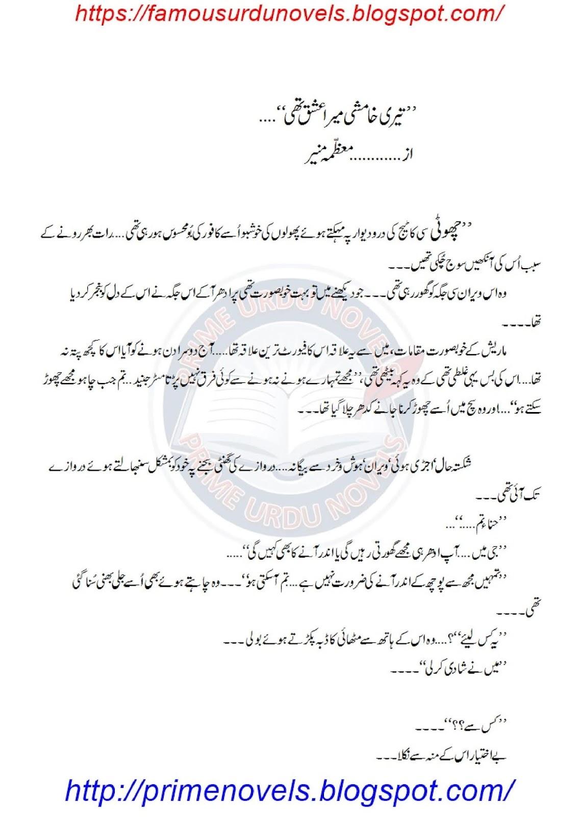 Mere Humsafar Koi Aur Hai Novel Pdf