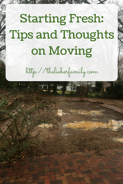 Starting Fresh: Tips and Thoughts on Moving