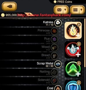 Download Free Hunger Games Catching Fire (All Versions) Game Hack Unlimited Coins 100% working and Tested for IOS and Android MOD.