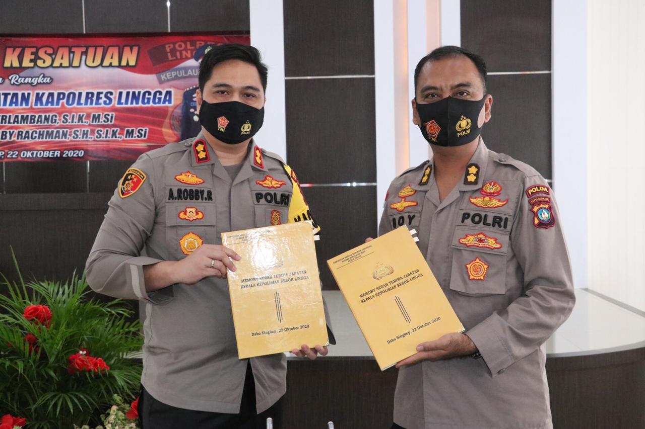 Polda Kepri Gelar Laporan Kesatuan Dalam Rangka Serah Terima Jabatan  Kapolres Lingga