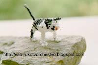 Котик из бисера. Схема