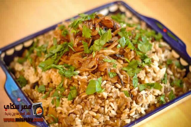 طريقة وخطوات عمل الأرز باللحمة والمشروم
