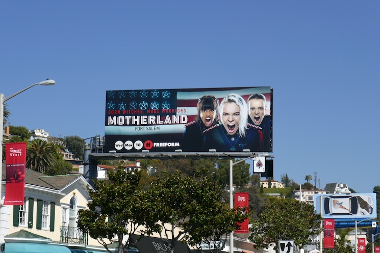 Motherland Fort Salem TV billboard