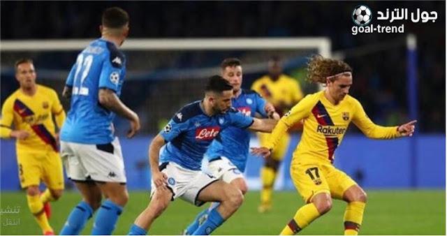 تفاصيل موعد مباراة برشلونة ونابولي في دوري ابطال اوروبا والقنوات الناقلة لها