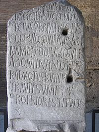 Rome Colosseum Inscription