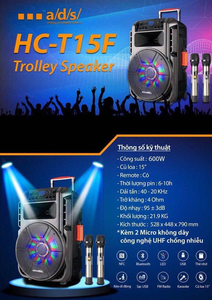 3500k - Loa bluetooth kẹo kéo di động công suất lớn 600w 5 tấc a/d/s HC-T15F 2 micro có đèn led theo điệu nhạc giá sỉ và lẻ rẻ nhất