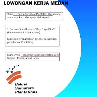 Loker Daerah Medan SMA SMK D3 S1 Juni 2020 di PT Bakrie Sumatera Plantions