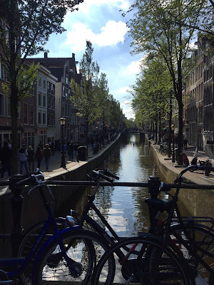 Red light district in the day Amsterdam