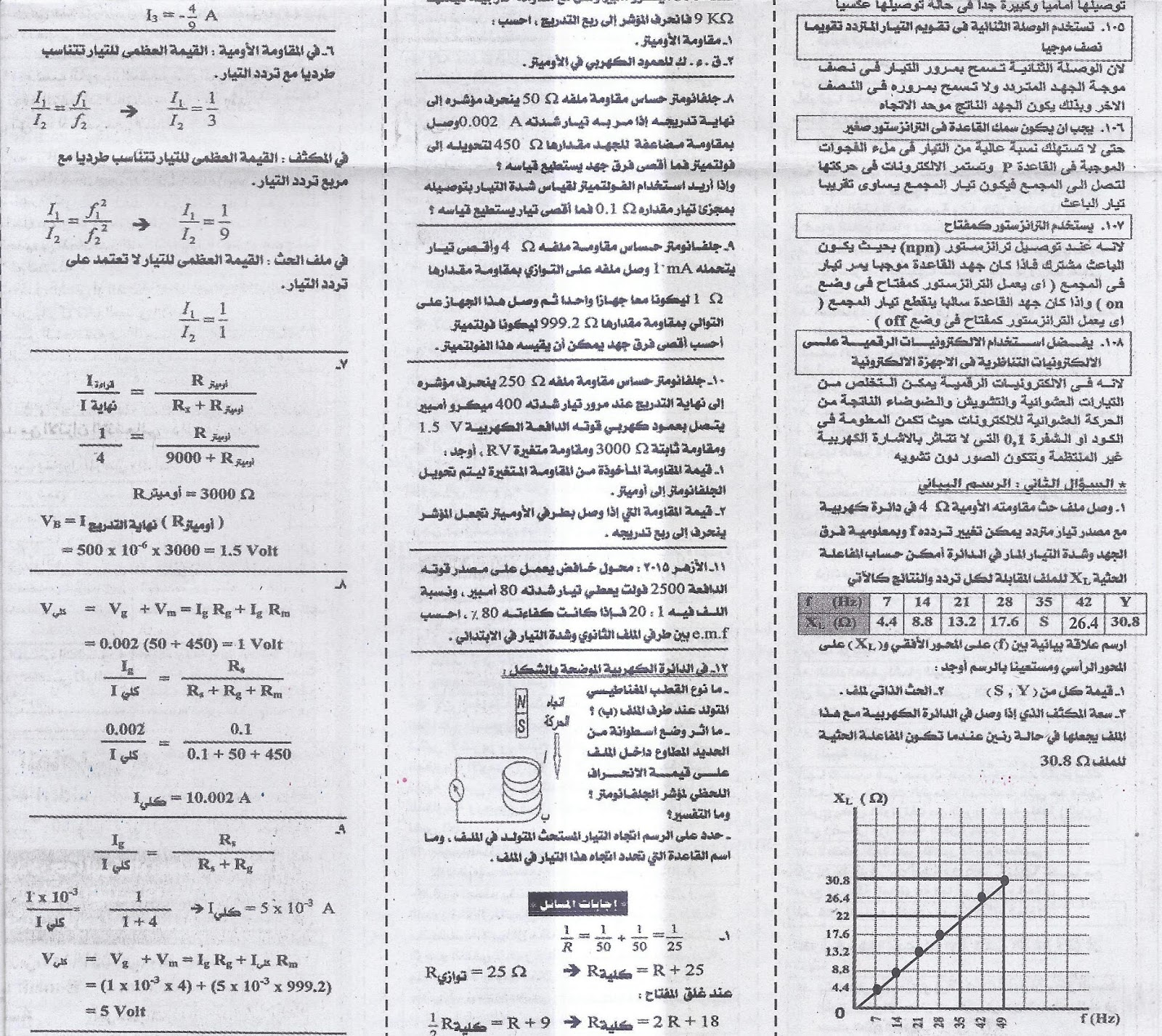 """مراجعة فيزياء .. اهم اسئلة علل واهم المسائل والرسومات البيانية للثانوية العامة """"عربي ولغات"""" 5"""