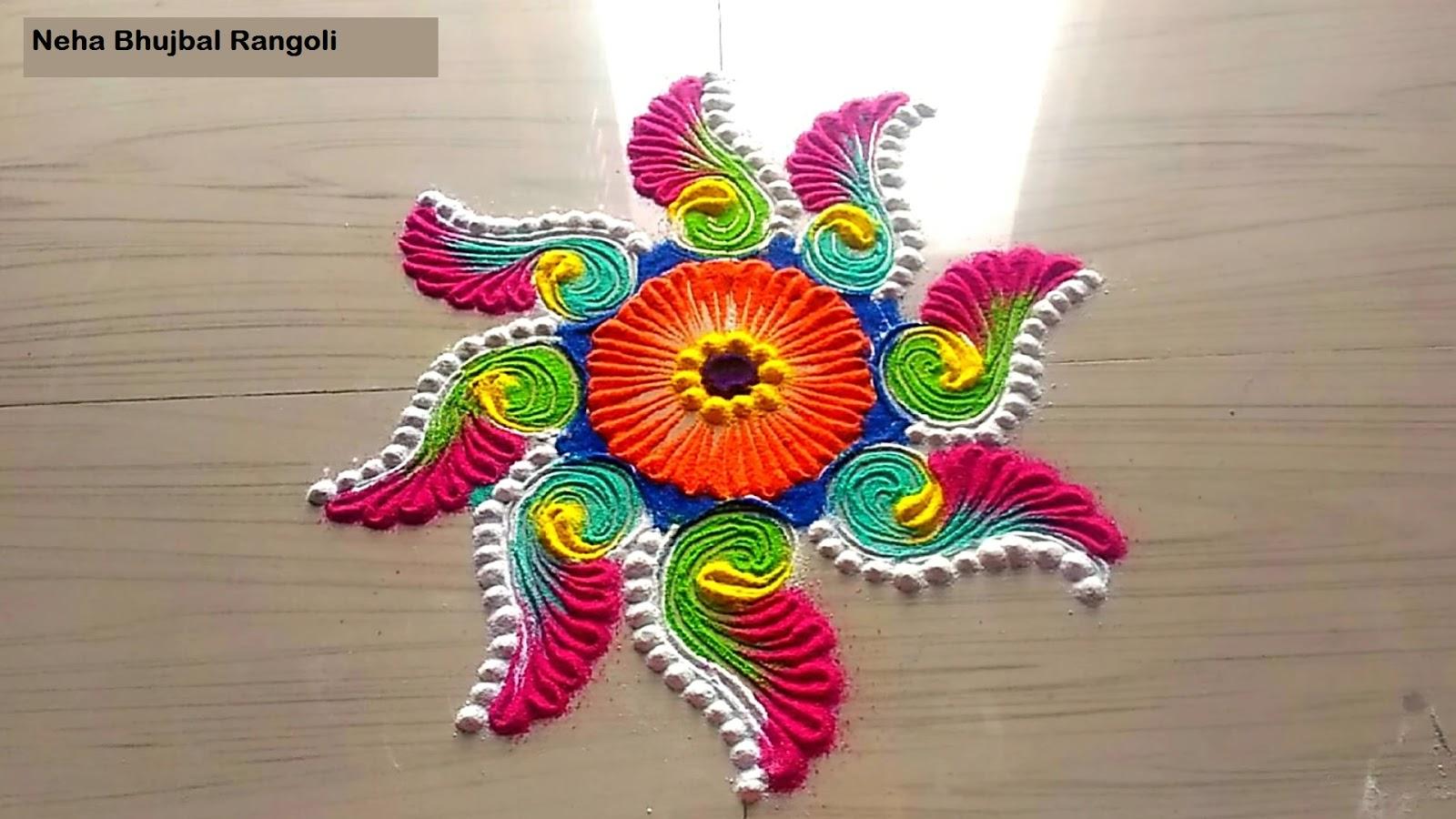 Rangoli: Freehand Color Rangoli Design