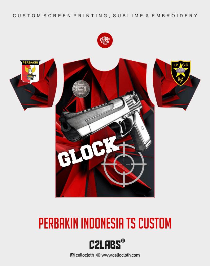 Ts 1 Perbakin Indonesia Baju Kaos Jersey Printing - Vendor Printing Jersey Jogja