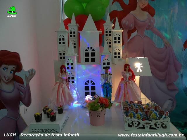 Festa de aniversário infantil com o tema Ariel - decoração provençal para festa infantil de meninas