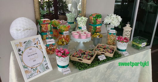 Candy buffet for wedding at Sungai Buloh