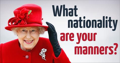 Fascinating test reveals what nationality your manners are from!