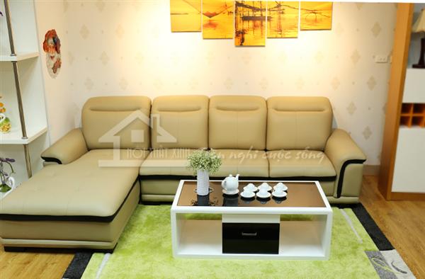 Ghế sofa da đẹp cho phòng khách gia đình