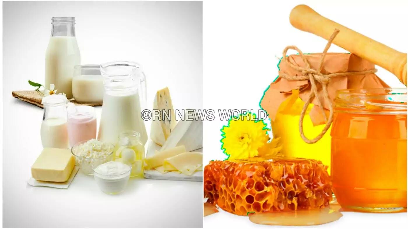 Milk and honey for face whitening