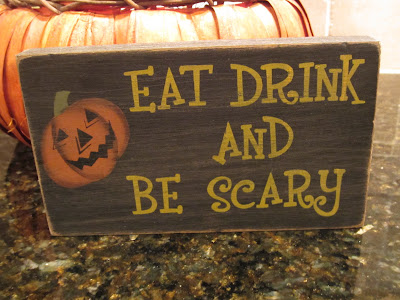 Cute wooden sign for Halloween
