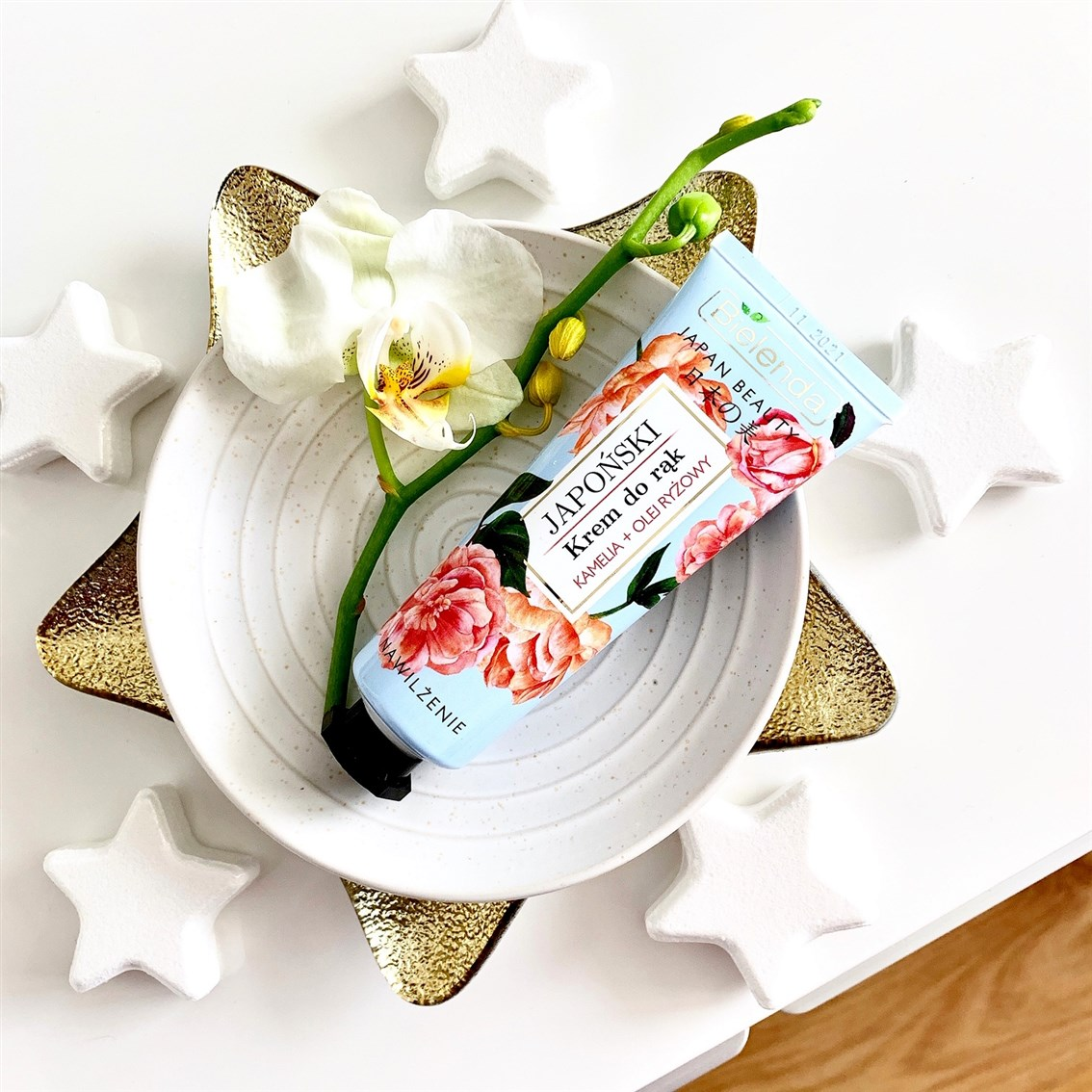 Bielenda Japan Beauty japoński krem do rąk, Nawilżenie kamelia + olej ryżowy
