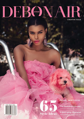 Africa's Top Model Roselyn Ashkar Covers Creative Issue Of Debonair Afrik Magazine