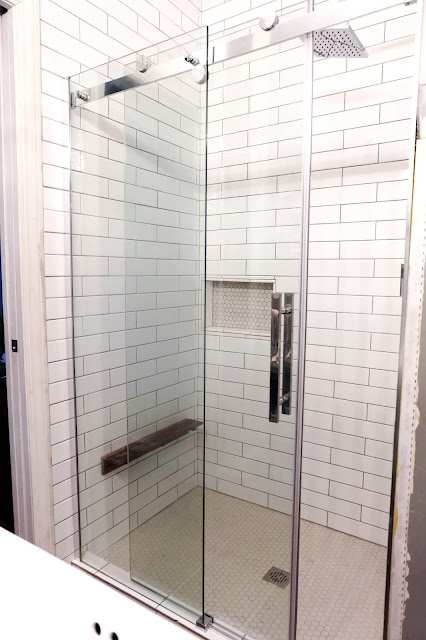 master bathroom shower renovation revealed