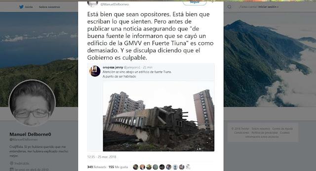 """""""Periodista"""" publica tubazo sobre eidficio de Fuerte Tiuna que en realidad se cayó en Shangai"""