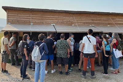 Participants a les instal·lacions del projecte Noctua