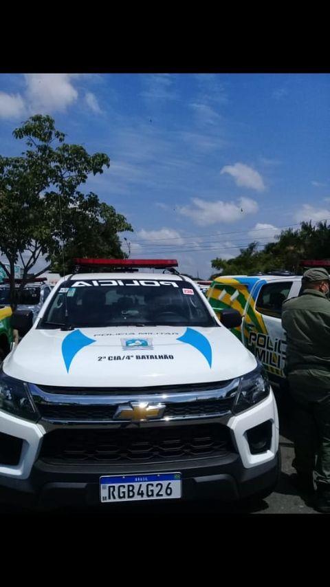 São Félix do Piauí: GPM é contemplada com nova viatura; comandante agradece.