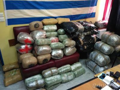 Στο Κομπότι Άρτας σταμάτησε νέο φορτίο με 109 κιλά αλβανικής κάνναβης
