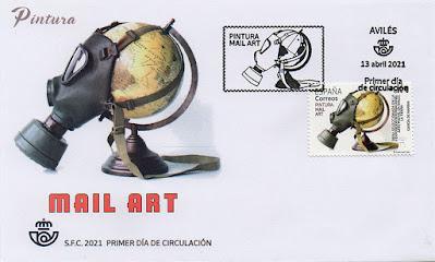 matasellos, sello, sobre, filatelia, Arte Postal, Mail Art, García de Marina