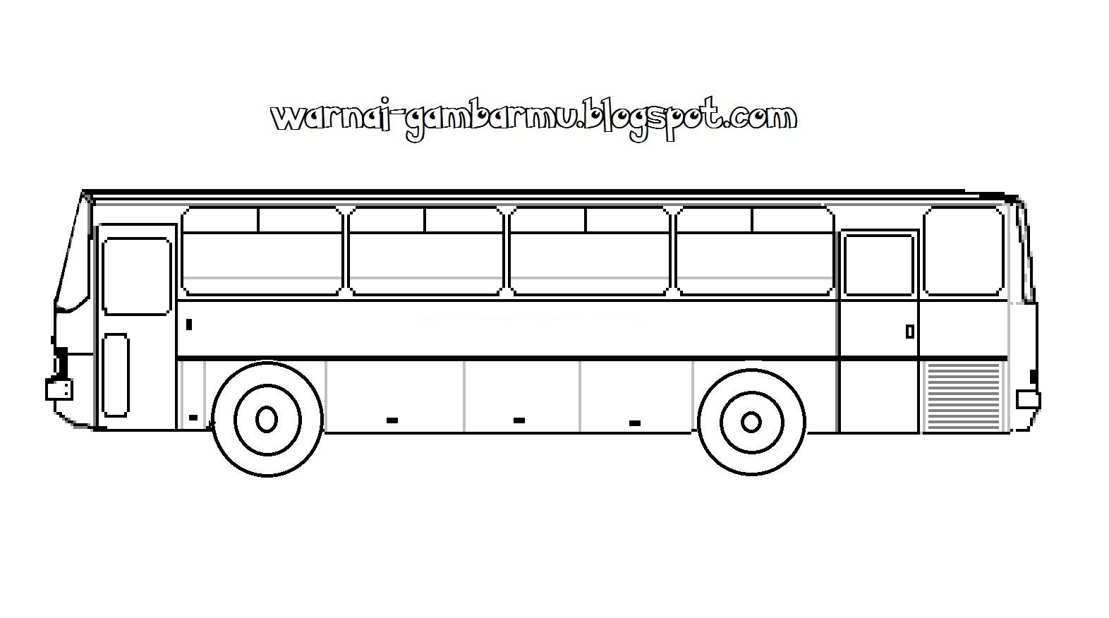 Mewarnai Gambar Mewarnai Gambar Bus