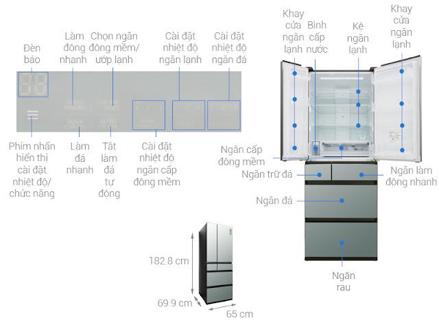 Tủ lạnh Panasonic Inverter 491 lít NR-F503GT-X2