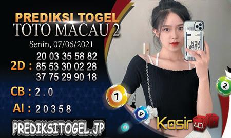 Prediksi Kasir4D Togel Macau Senin 07 Juni 2021
