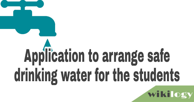 Application to arrange safe drinking water for the students