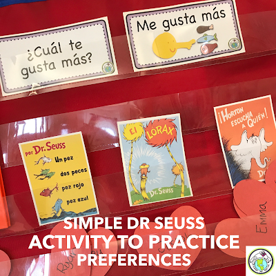 Dr Seuss Activity for FLES Classes Spanish and French
