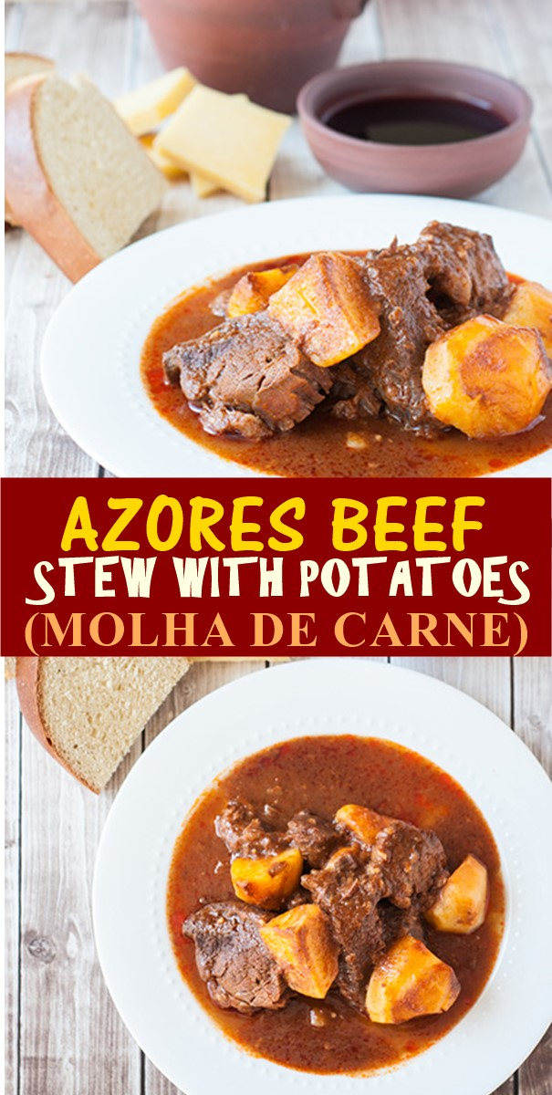 AZORES BEEF STEW WITH POTATOES (MOLHA DE CARNE) #Dinnerrecipes