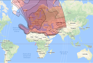 Footprint Satellite Eutelsat 7A 7.0°E KU Band