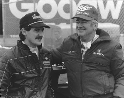 Bobby Allison (right) and son Davey Allison.