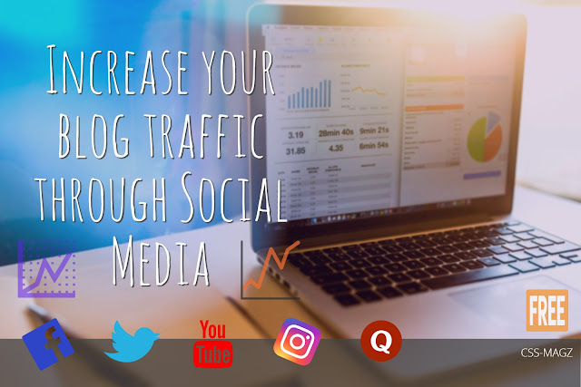 Increase your traffic through social media.
