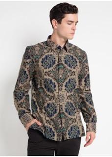 Baju Batik Keris Pria Lengan Panjang