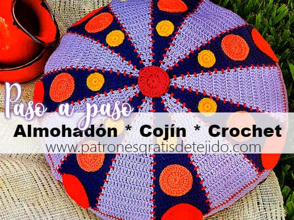 como-tejer-cojin-crochet-redondo