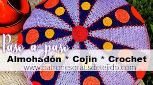 Cojín * Almohadón redondo a crochet / PAP