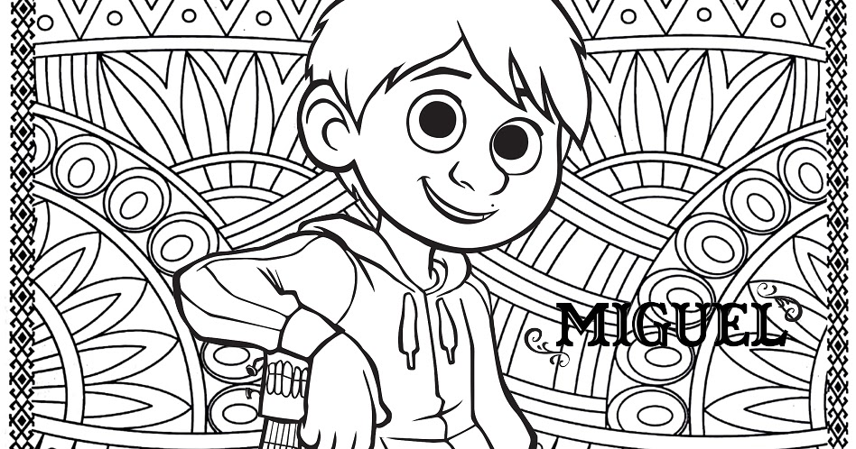 Coco Coloring Pages Coco Movie Coloring Mandala