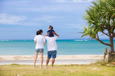 沖縄 家族写真 ロケーションフォト 海